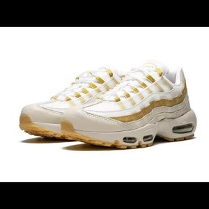 Nike Shoes - Nike Air Max 95 White Gold Women's Size 6 & 8.5